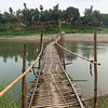 Bridge over a river in Luang Prabang
