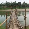 Bridge over a river in Luang Prabang