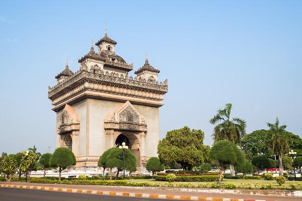 Patuxai monument in Vientiane
