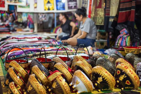 Merchandise at the night market in Luang Prabang