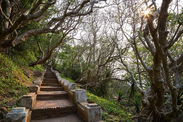 Stairs to Mount Phousi