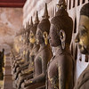 Many Buddha statues at the Wat Si Saket Temple