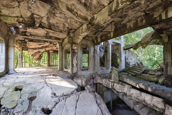 Ruins of military barrack in Gdansk