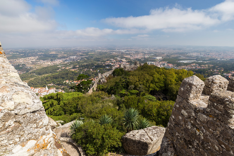 Landscape from above from castle in Sintra, Portugal