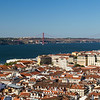 View of the Alfama district and beyond in Lisbon
