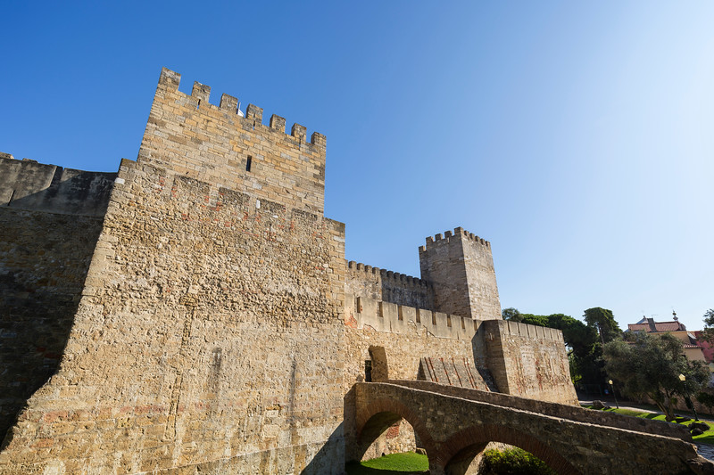 View of the Sao Jorge Castle in Lisbon