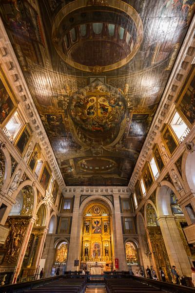 Interior of the Igreja de Sao Roque in Lisbon