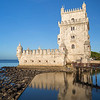 Historic Torre de Belem tower in Lisbon
