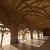 Decorative cloister at Mosteiro dos Jeronimos in Lisbon