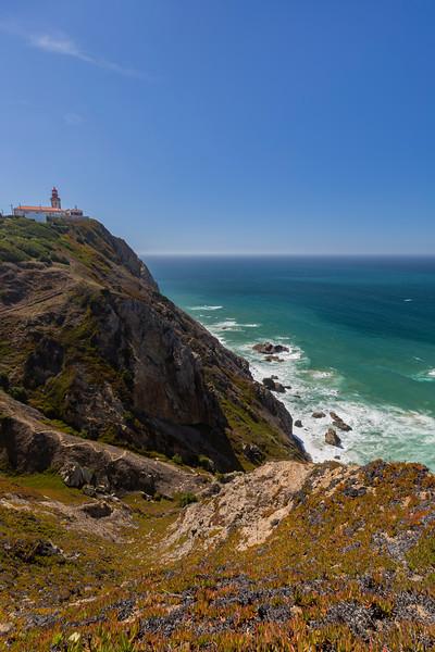 Rocky coast and Atlantic ocean in Cabo da Roca