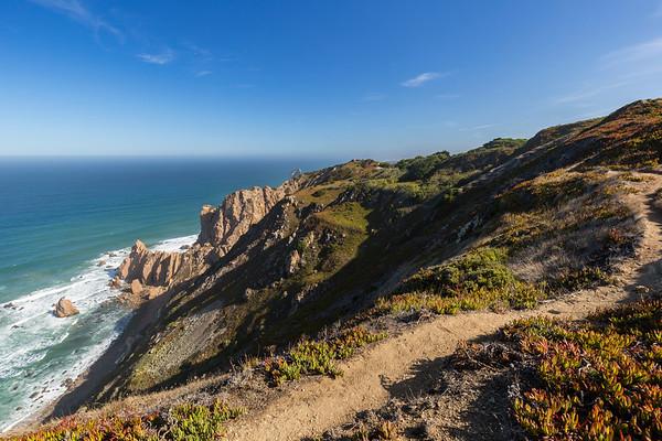 Rocky coastline and Atlantic ocean in Cabo da Roca