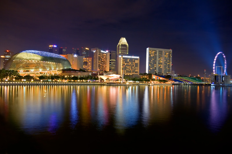 Esplanade – Theatres on the Bay by night