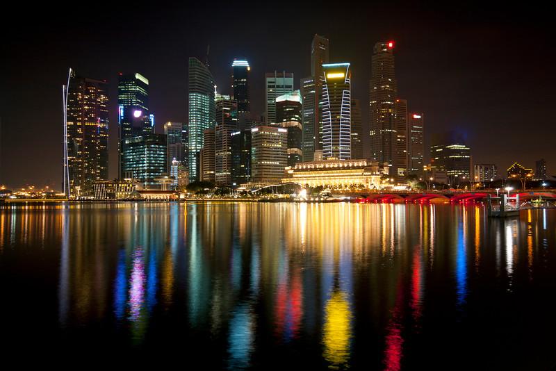 CBD in Singapore by night