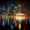 CBD in Singapore by night