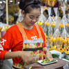 Thai woman working at a market