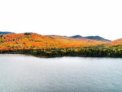 Foliage on Little Kennebago Lake