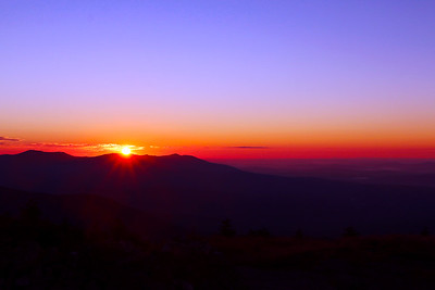 Sunrise from the Summit of Saddleback Mountain