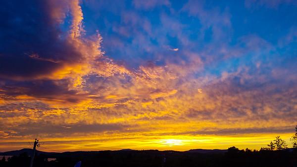 Sky on Fire from the Saddleback Motor Inn