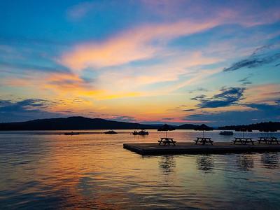 Sunset at Bald Mountain Camps on Mooselookmeguntic Lake