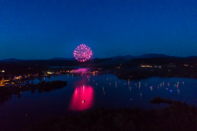 Fireworks on Rangeley Lake