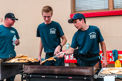 Fire Station Pancake Breakfast. Photo by @tori.corp