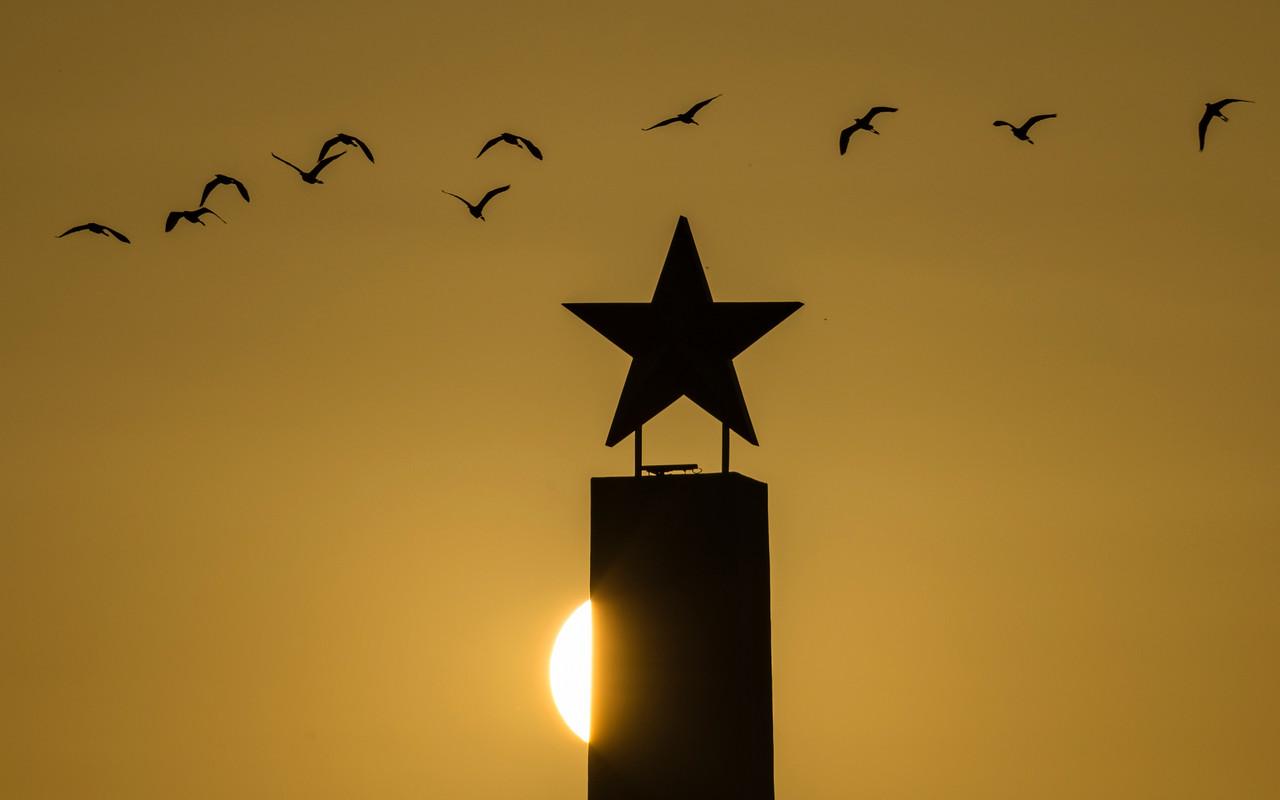 CRV_0957 Freedom Park Lone Star with birds