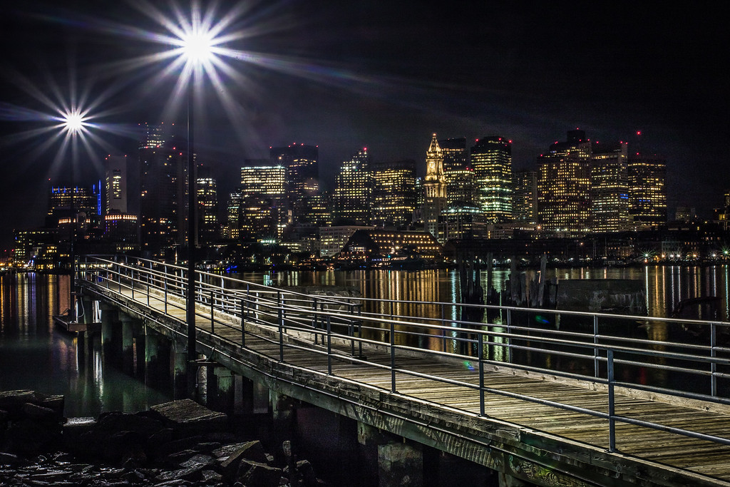 Boston Skyline from the Pier