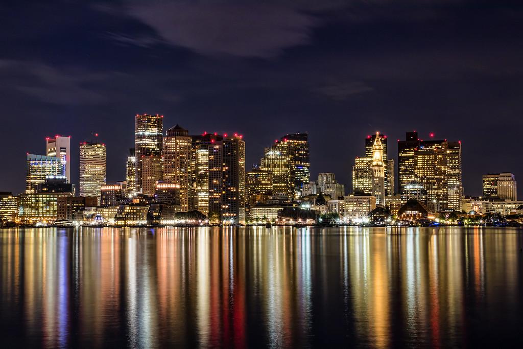Boston Skyline from Pier Park