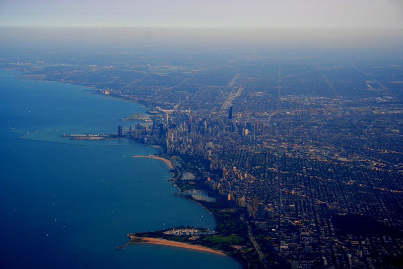 View flying out of Chicago
