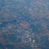 Over Europe, an Old Feudal City - Closeup