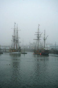 Lady Washington and Hawaiian Chieftain at Westport, Wash. Photo by Ron Arel / Coastal Images.
