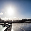 "Profile of Exploratorium's green efforts in its move to San Francisco's Embarcadero. Pictured: the Exploratorium's solar roof set against the city's skyline as the backdrop<br /> <br />  <a href=""http://news.yahoo.com/landmark-museum-to-reopen-as-most-eco-friendly-institute-on-earth-195905286.html"">http://news.yahoo.com/landmark-museum-to-reopen-as-most-eco-friendly-institute-on-earth-195905286.html</a>"