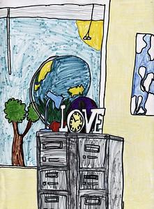 "Cole Mullis, West Hartsville Elementary School, ""Still Life at School"""