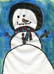 """Bryceson McElveen, Southside Early Childhood Center, """"The Snowman"""""""