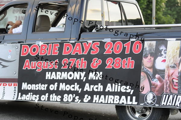 The sign says it all for this float in the 2010 Bratwurst Day parade, Saturday July 31, 2010 in Stacyville, Iowa. Steve Pope/Photo