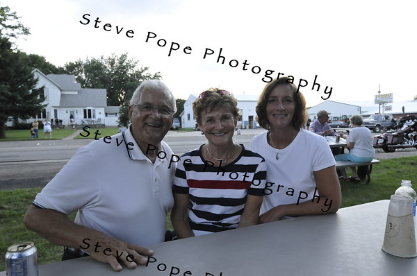 First Lady of Iowa Mari Culver with Deo and Joan Koenigs after the 2010 Bratwurst Day parade, Saturday July 31, 2010 in Stacyville, Iowa. Steve Pope/Photo