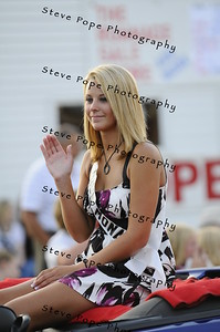 MaryAnn Knudsen, 17, is Miss Mona in the 2010 Bratwurst Day parade, Saturday July 31, 2010 in Stacyville, Iowa. Steve Pope/Photo