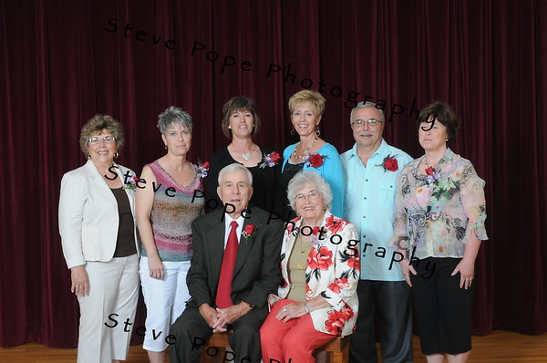 Howard and Lorna Landas were the guests of honor at an open house in celebration of their 60th wedding anniversary, Saturday June 18, 2011 at the Fayette Opera House, in Fayette, Iowa.     The celebration was hosted by the couple's children, Sue (Jack) Frey of Fayette, Harry (Linda) Landas of Omaha, Neb., Sherry (Steve) Dewitz of Spencer, Patty Youll of Okoboji, Peggy (Tim) Juergens of Elkader, Julie (Matt) Kopsa of Gilman; 17 grandchildren; and 11 great-grandchildren. Howard Landas and Lorna Bergan were married May 12, 1951, by the Rev. William Mullen at St. Francis of Assisi Church, Fayette, Iowa.