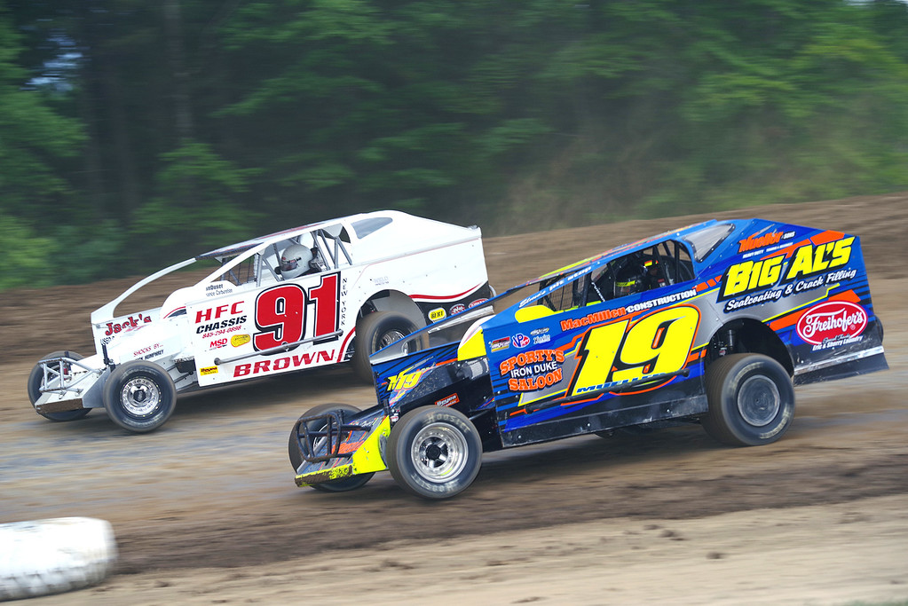 . Modified action Jessey Mueller #19 & Jackie Brown #91,courtesy Kustom Keepsakes, Mark Brown/Ryan Karabin. Reprints and more available at https://nepart.smugmug.com