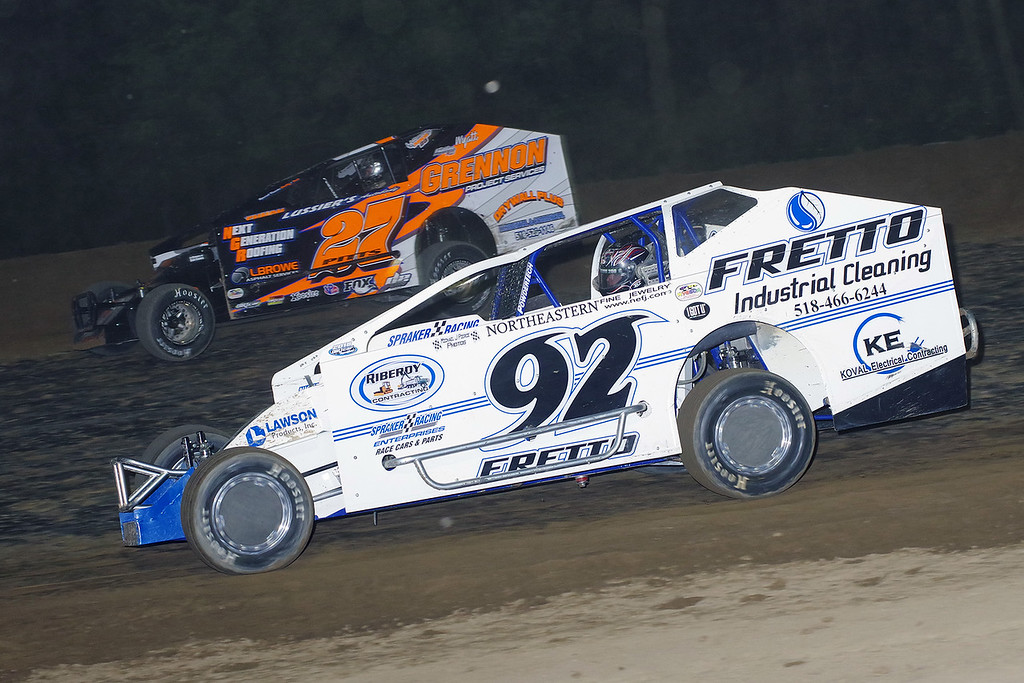 . Sportsman action Nick Fretto #92 & Jeremy Pitts #27, courtesy Kustom Keepsakes, Mark Brown/Ryan Karabin. Reprints and more available at https://nepart.smugmug.com