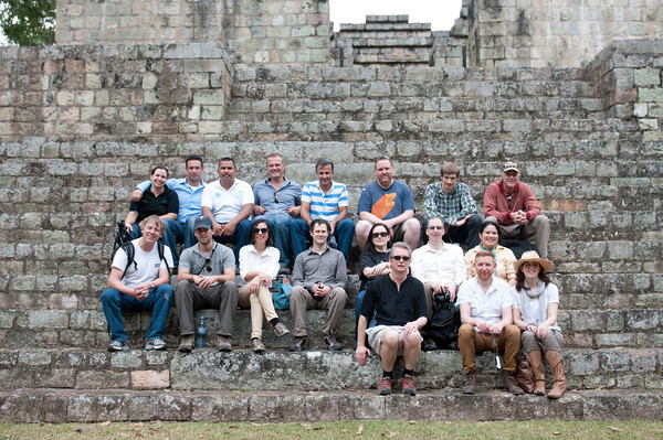 The founding members of Direct Cacao during a visit to Copan in Honduras.