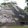 A partly rebuilt Mayan pyramid in Copan.