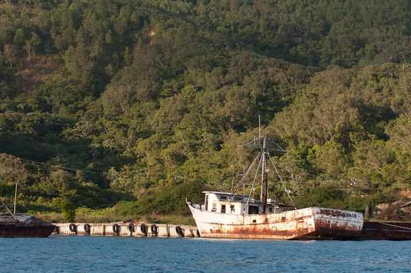 Guanaja had a whole fleet of boats that were worn out and in disrepair.