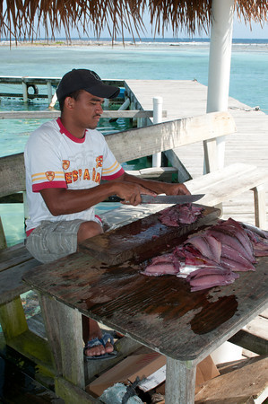 Our dinner was made of some of the freshest fish imaginable.  Once cooked, it was incredibly delicious.