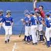 STAN HUDY - SHUDY@DIGITALFIRSTMEDIA.COM<br /> A heroes welcome for Saratoga Springs slugger Jack Ragle after his two-run home run late in Saturday's sectional opener at West Side Rec. against Mercy-Deerfield.