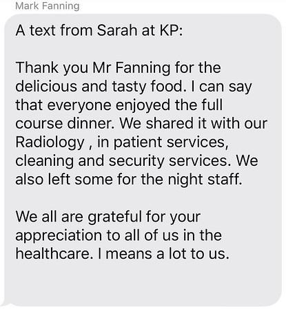 Kaiser Permanente Thank You Message to Contributors