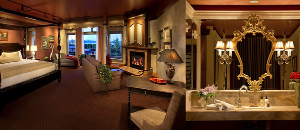 One of Two Hotel Suites at The Herbfarm