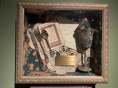 Place setting recovered after The Herbfarm's 1997 fire
