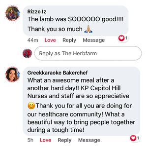 Medical staff comments on The Herbfarm's Facebook Page