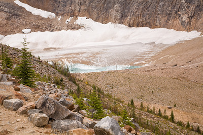 View of Cavell Pond from the Path of the Glacier